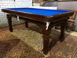Riley 6ft antique mahogany snooker dining table