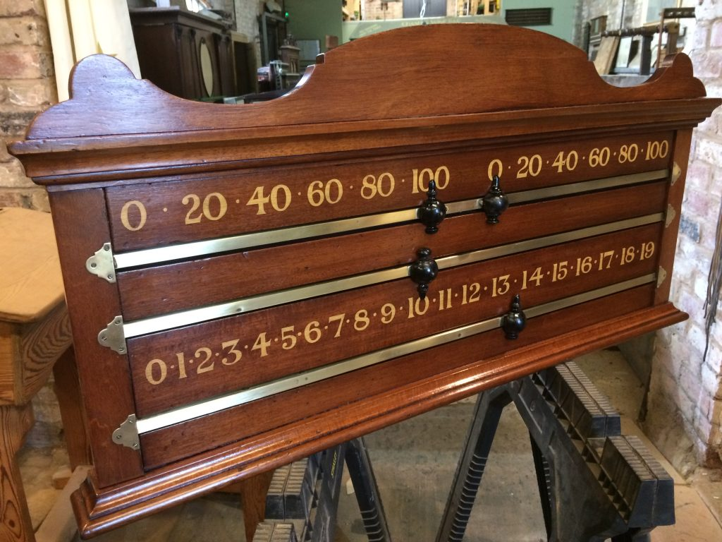 Antique snooker scoreboard