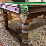 A quality mahogany Geo. Edwards snooker diner, on round turned and fluted legs.