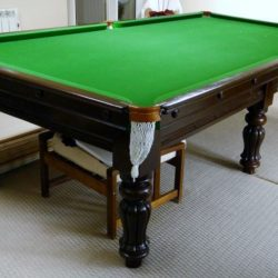 9ft Jelks antique snooker table, B698