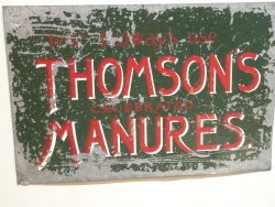 Thomsons manure Metal Sign