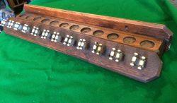 12 clip antique cue rack
