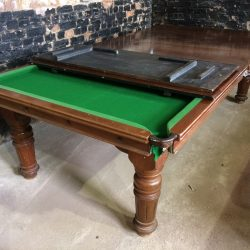 8ft Riley convertible antique snooker diner .dining leaves.