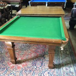 7ft antique snooker diner table