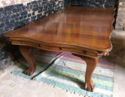 Riley antique convertible snooker dining table 8ft serpentine