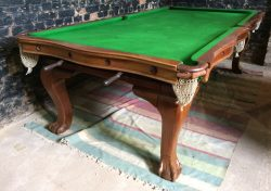Riley convertible snooker dining table antique serpentine 8ft (1)
