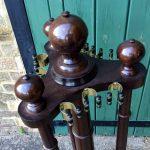 Vintage oak revolving cue stand B813
