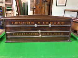 Vintage Oak Scoreboard B796