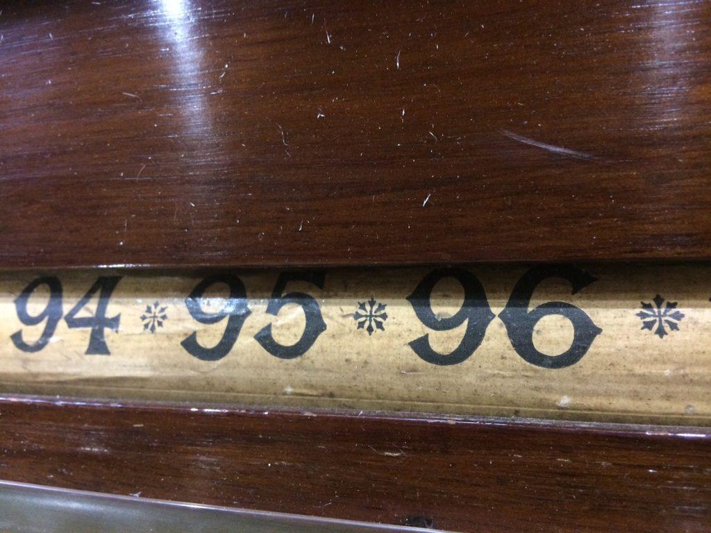 Walnut rollerboard scoreboard B820