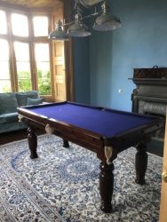 6ft Padmore billiards table, French navy cloth (