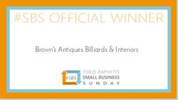 SBS winner Brown's Antiques Billiards & Interiors