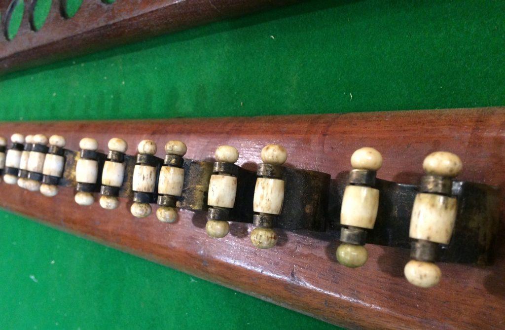 wall mounted mahogany Victorian cue rack