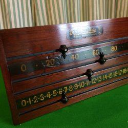 Burroughes and Watts antique scoreboard B687