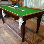 UPCYCLED 6FT OAK RILEY SNOOKER/BILLIARDS TABLE. B778