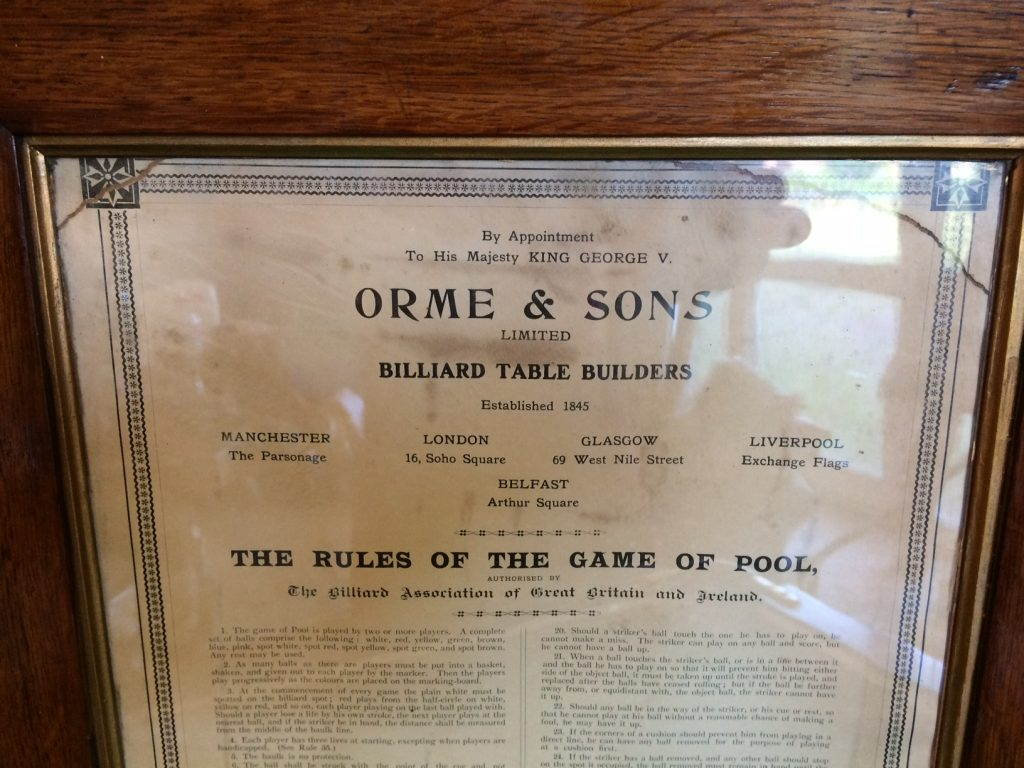 Orme Life Pool rules in frame