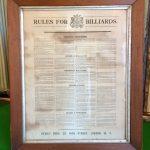 Hennig Bros. Rules framed B846