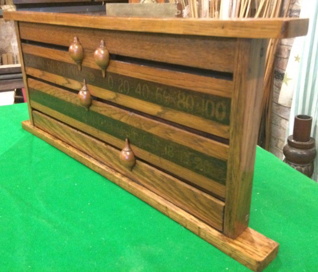 Jelks oak antique snoker scoreboard B847