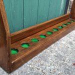 Vintage oak wall cue rack B253