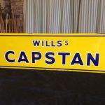 Wills Capstan Enamel Sign