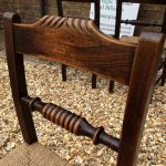 set of 6 fruit wood chairs