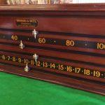 Antique Snooker Scoreboard. Burroughes & Watts.