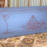 Walnut blue painted wall panel