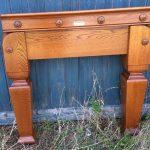 B870 antique oak snooker billiards pool table Thurston