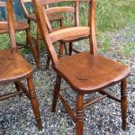 Antique beech and elm chairs B863 B395