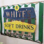 Vintage R Whites soft drinks sign