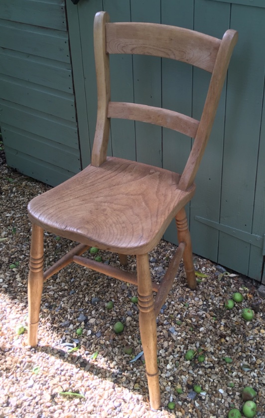Elm and beech bar back chairs set of 8
